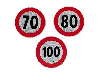 Reflektujuća nalepnica za ograničenje brzine, 80km