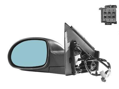 Retrovizor Citroen C5 01-07,  crno kućište, plavo staklo, 5 pin
