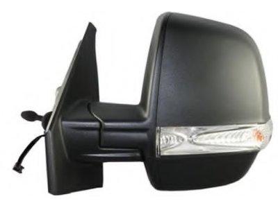 Retrovizor Fiat Doblo 10-, ručno pomicanje, crno kućište, 2 pinski (dvojno staklo)