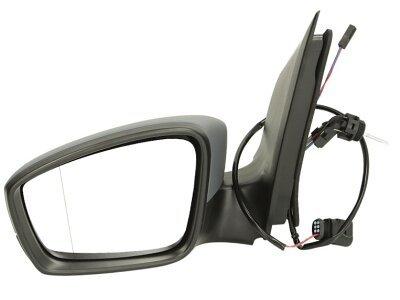 Retrovizor Seat MII 12-, ručno pomeranje, crno kućište, 4 pinova