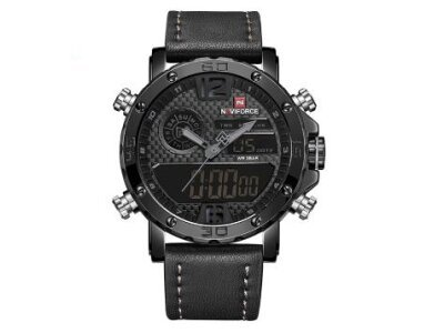 Robustna moška ura  NF-9134, črno-siva