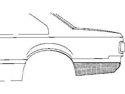 Rub zadnjeg dela Opel Rekord E 77-82