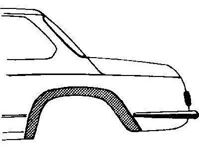 Rubnjak blatobrana BMW 02 66-77