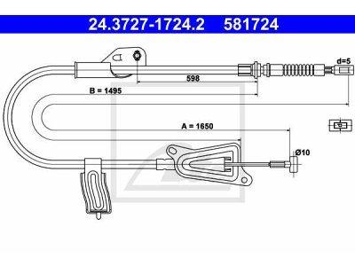 Sajla ručne kočnice 24.3727-1724.2- Nissan Almera 00-06
