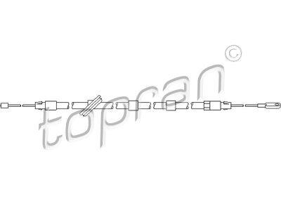 Sajla ručne kočnice Mercedes-Benz C-Klasa 93-00,  spreda, 2556 mm