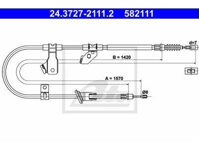 Sajla ručne kočnice Mitsubishi Colt 02-12