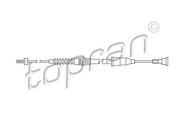 Sajla ručne kočnice Opel Corsa 00-06, pozadi, desno