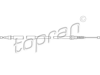 Sajla ručne kočnice Opel Corsa C 00-06, pozadi, levo, 1095mm