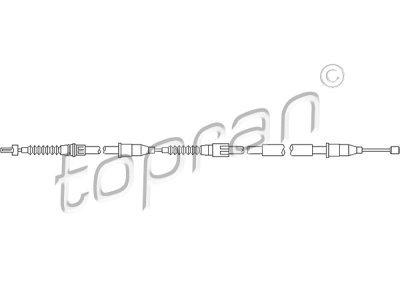 Sajla ručne kočnice Opel Corsa C 00-06, pozadi, levo, 1505mm