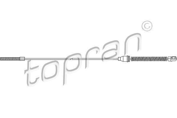 Sajla ručne kočnice Opel Tigra 94-00, pozadi, desno, 1078 mm