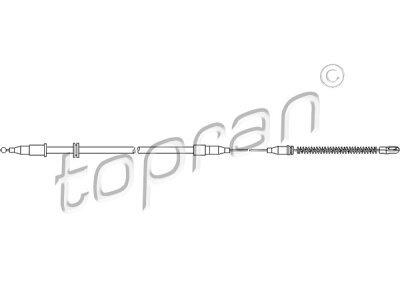 Sajla ručne kočnice Opel Tigra 94-00, pozadi, levo, 1373/737 mm