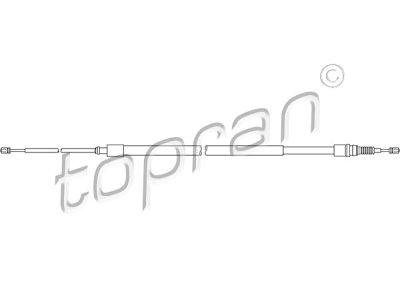 Sajla ručne kočnice Peugeot 307 02-, pozadi, 2115/1316 mm