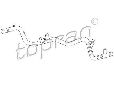 Savitljiva cijev hladnjaka grijanja Volkswagen Golf (II) 84-91