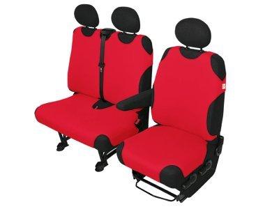 Sedežna prevleka Van delivery 1+2 kosa, rdeča