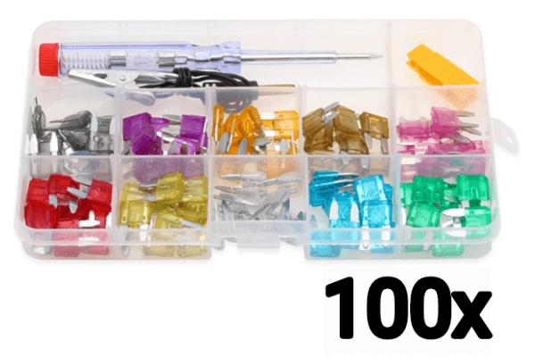 Set nadomestnih varovalk, 100 kosov + orodje za menjavo