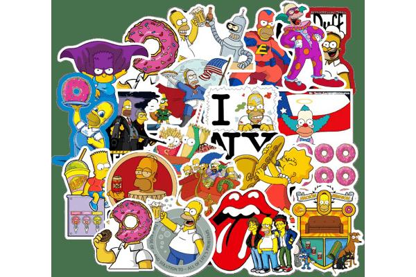 Set naljepnica Zabavne američke obitelji - 100 komada - Super kvliteta, Besplatna dostava
