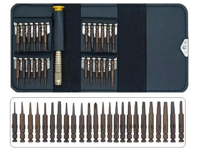 Set odvrtača za finu mehaniku, magnet, 26 delni