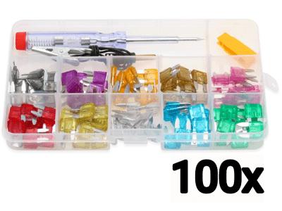 Set rezervnih osigurača, 100 komada + alat za menjanje