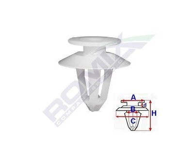 Set za pričvršćivane Citroen/Peugeot/Renault RXA82027 10 komada