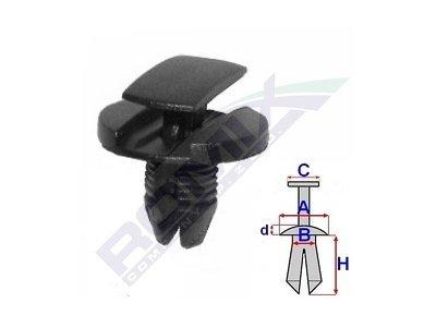Set za pričvršćivanje (za zaštite) 2075200 - Citroen C3 02-