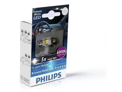 Sijalica C5W LED Philips X-TremeVision (38 mm) 6000K - PH128596000KX1