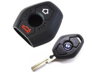 Silikonska zaščita za avto ključ SEL008 - BMW, črna