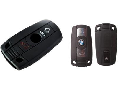 Silikonska zaščita za avto ključ SEL010 - BMW, črna