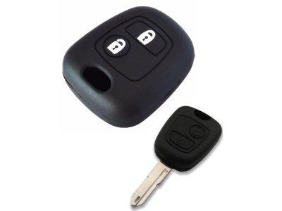 Silikonska zaščita za avto ključ SEL013 - Peugeot, črna