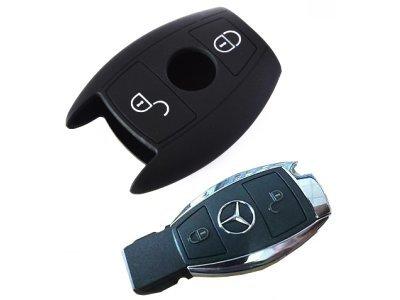 Silikonska zaščita za avto ključ SEL025 - Mercedes-Benz, črna