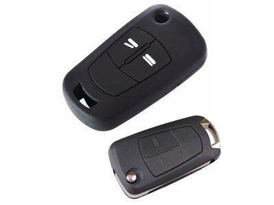 Silikonska zaščita za avto ključ SEL027 - Opel, črna