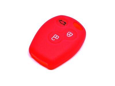 Silikonska zaščita za avto ključ SEL038-2 - Renault, rdeča
