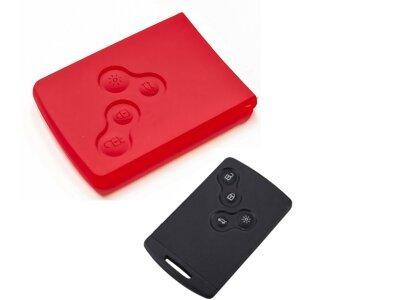 Silikonska zaščita za avto ključ SEL042-2 - Renault, rdeča