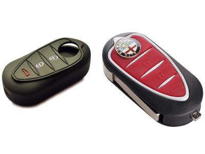 Silikonska zaščita za avto ključ SEL043 - Alfa Romeo, črna