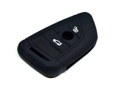 Silikonska zaščita za avto ključ SEL059-1 - BMW, črna