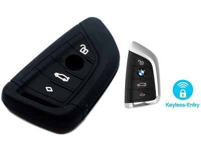Silikonska zaščita za avto ključ SEL131 - BMW, črna