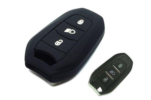 Silikonska zaščita za avto ključ SEL138 - Citroen, črna