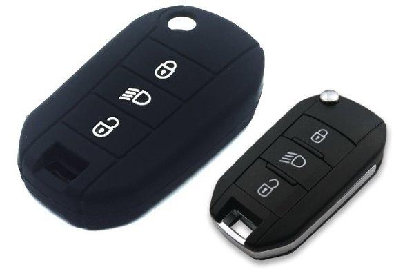 Silikonska zaščita za avto ključ SEL139 - Citroen, črna