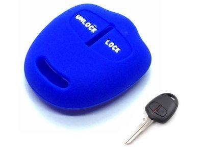 Silikonska zaščita za avto ključ SEL153 - Mitsubishi, modra