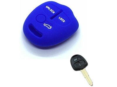 Silikonska zaščita za avto ključ SEL155 - Mitsubishi, modra