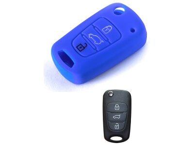 Silikonska zaščita za avto ključ SELM001 - Kia, modra