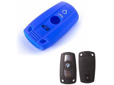 Silikonska zaščita za avto ključ SELM010 - BMW, modra