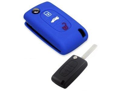 Silikonska zaščita za avto ključ SELM012 - Lancia, modra