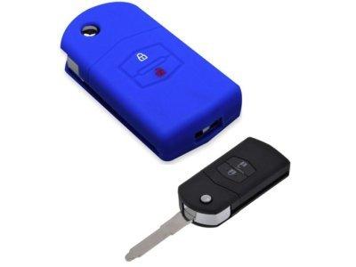 Silikonska zaščita za avto ključ SELM020 - Mazda, modra