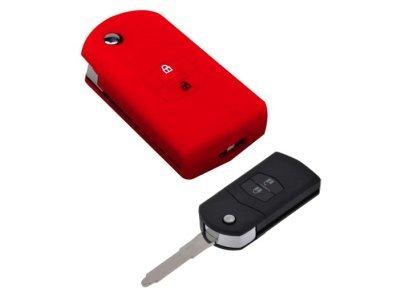 Silikonska zaščita za avto ključ SELM020 - Mazda, rdeča