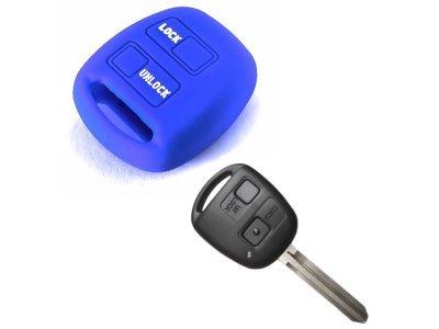 Silikonska zaščita za avto ključ SELM022 - Toyota, modra
