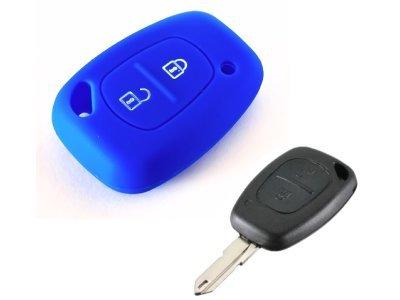 Silikonska zaščita za avto ključ SELM035 - Renault, modra