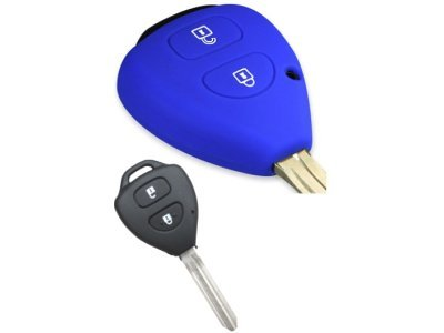 Silikonska zaščita za avto ključ SELM036 - Toyota, modra
