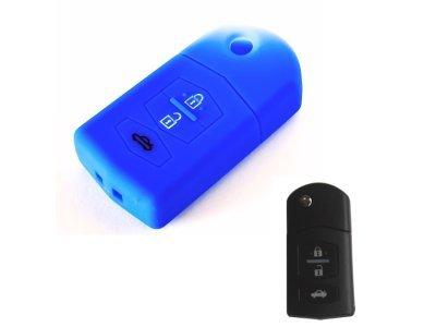Silikonska zaščita za avto ključ SELM041 - Mazda, modra