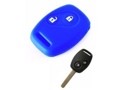Silikonska zaščita za avto ključ SELM045 - Honda, modra