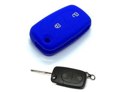 Silikonska zaščita za avto ključ SELM126 - Audi, modra